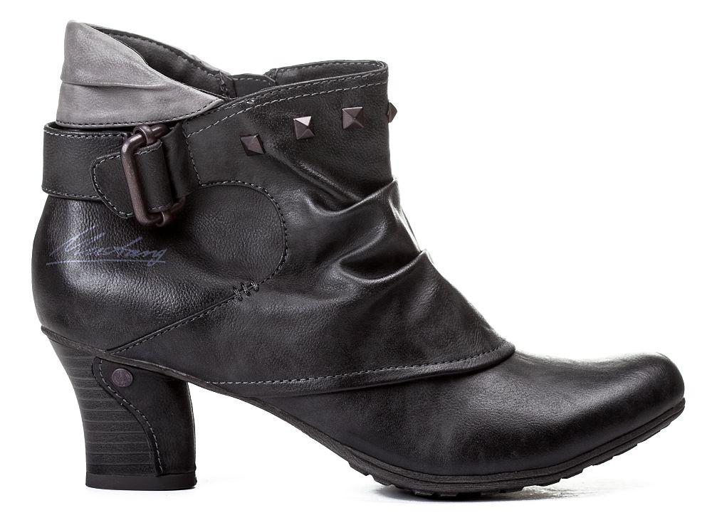 mustang shoes damen stiefelette 1156 502 259 graphit. Black Bedroom Furniture Sets. Home Design Ideas