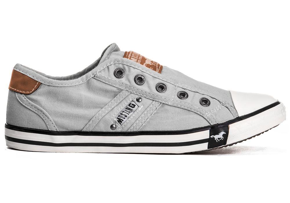 new style c5a4f f9350 Details zu Mustang Shoes Herren Schuhe 4058-401 Halb Turn Slipper Sneaker  Männer Canvas