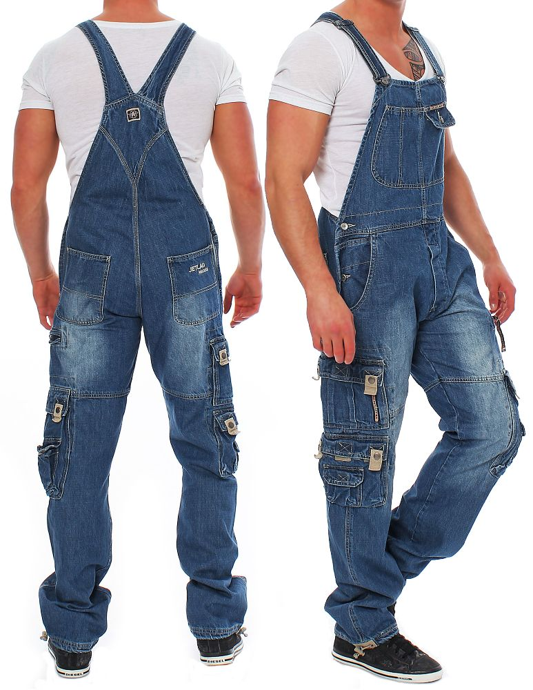 jet lag herren latzhose overall a s 3xl hose jeans jetlag jeanshose neu ebay. Black Bedroom Furniture Sets. Home Design Ideas