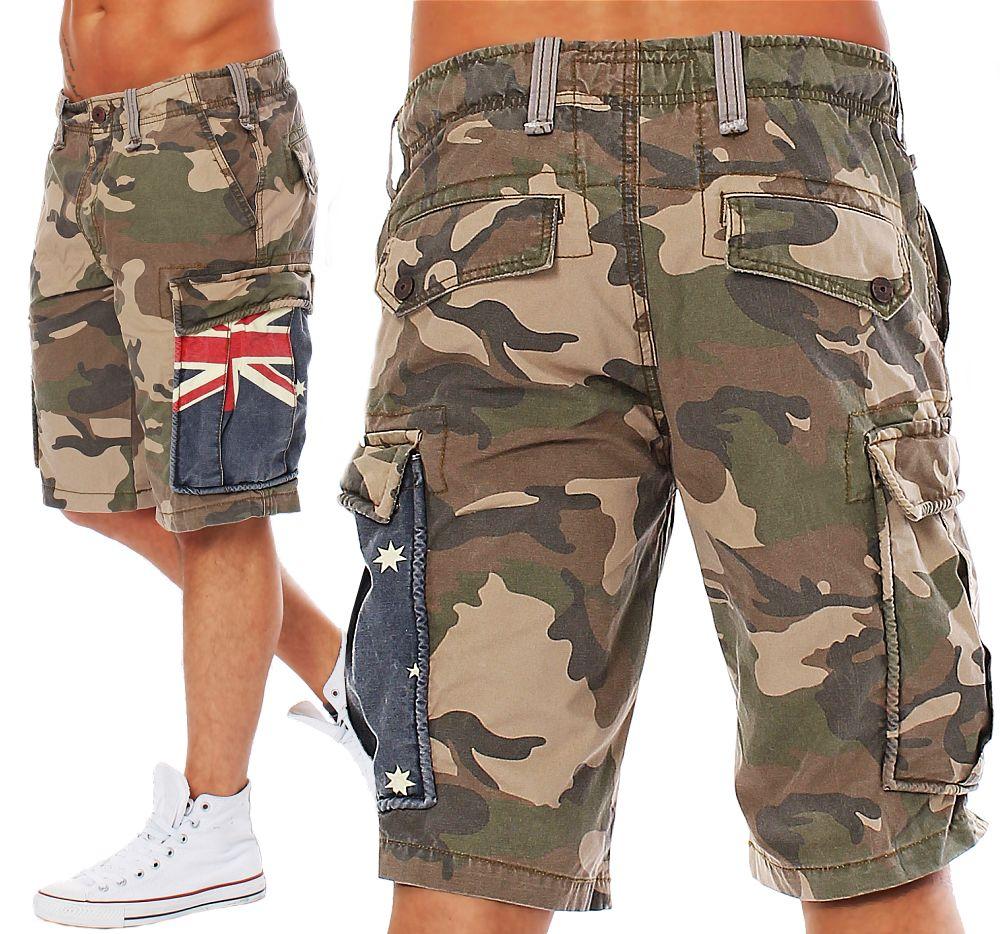 jet lag herren cargo shorts yc22a camouflage herrenshorts cargoshorts kurze hose ebay. Black Bedroom Furniture Sets. Home Design Ideas