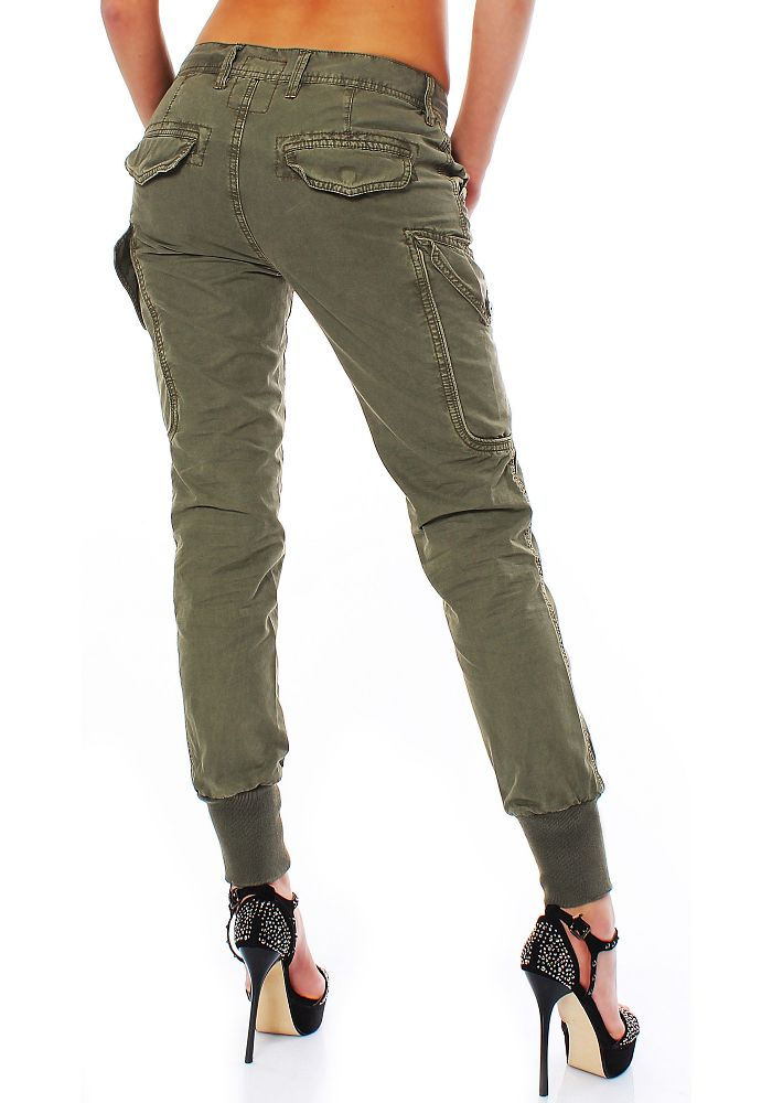jet lag damen boyfriend cargo hose l06 olive w29 damenhose cargohose pants neu ebay. Black Bedroom Furniture Sets. Home Design Ideas