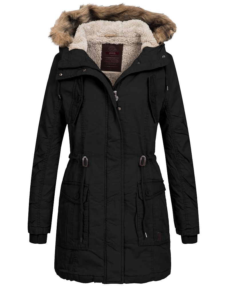 urban surface damen winterparka lus 061 damemparka damenjacke winter jacke parka ebay. Black Bedroom Furniture Sets. Home Design Ideas