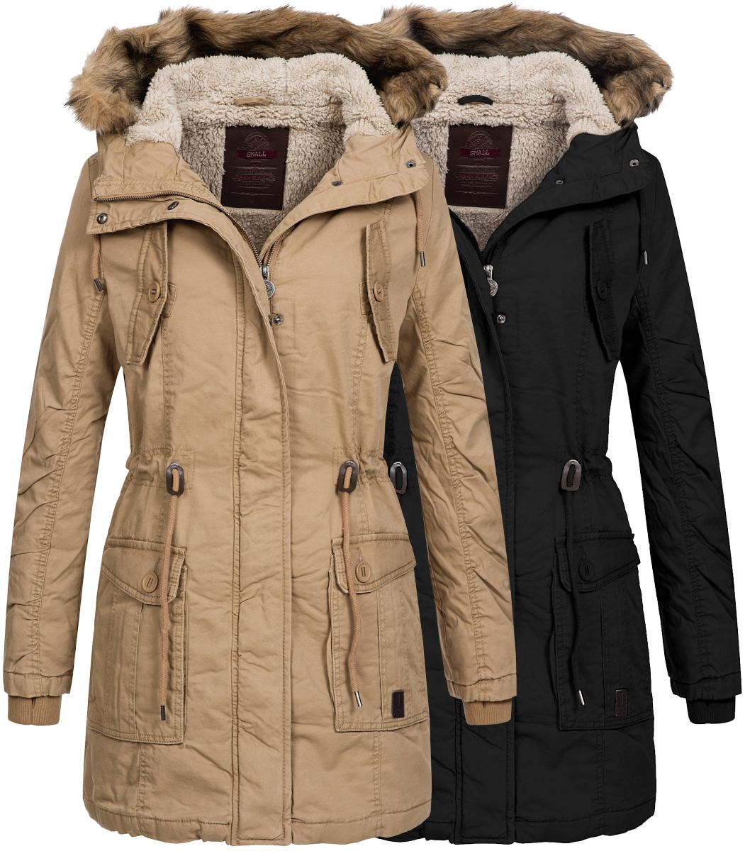 urban surface damen winterparka lus 061 damemparka damenjacke winter jacke parka. Black Bedroom Furniture Sets. Home Design Ideas