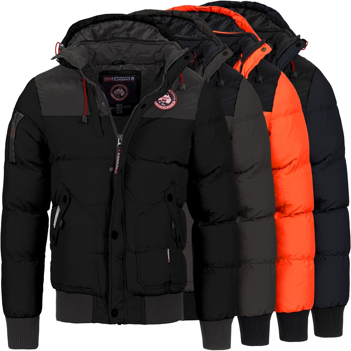 geographical norway herren winterjacke vortex herrenjacke winter stepp jacke neu ebay. Black Bedroom Furniture Sets. Home Design Ideas
