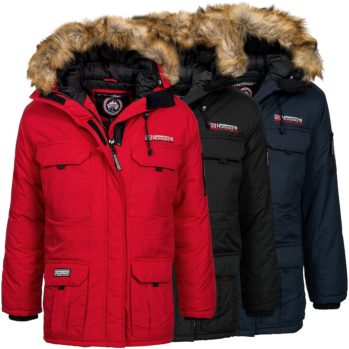 geographical norway herren winterparka baileys jacke. Black Bedroom Furniture Sets. Home Design Ideas