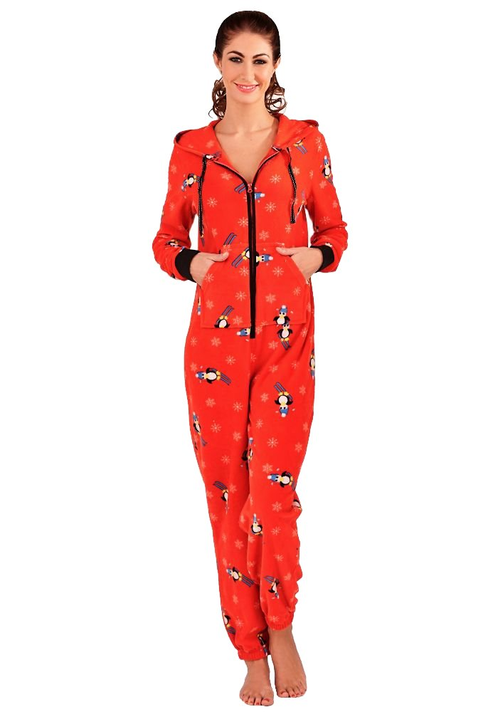 damen jumpsuit pinguin rot xs overall einteiler anzug. Black Bedroom Furniture Sets. Home Design Ideas