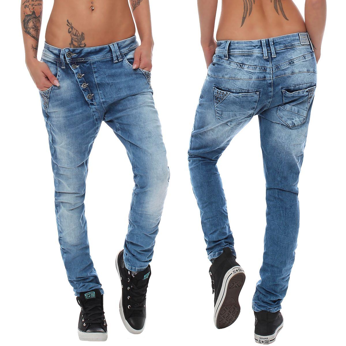 m o d damen boyfriend jeans linda forever blue damenjeans damenhose jeanshose ebay. Black Bedroom Furniture Sets. Home Design Ideas