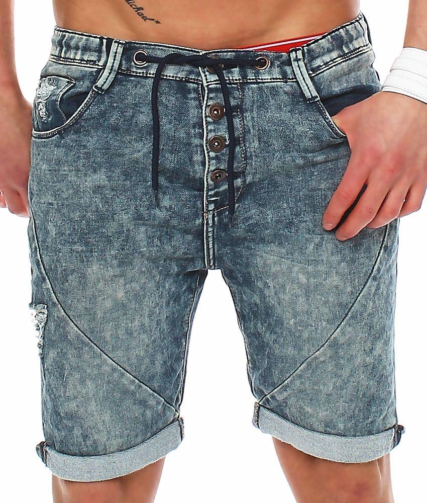 sublevel herren jogg jeans shorts lsl 226 short jeanshose sweatshorts kurze hose ebay. Black Bedroom Furniture Sets. Home Design Ideas