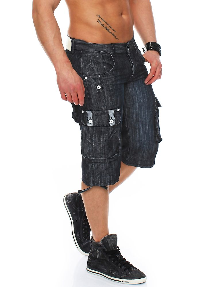 crosshatch player herren jeans short kurze hose jeans cargohose shorts sommer ebay. Black Bedroom Furniture Sets. Home Design Ideas