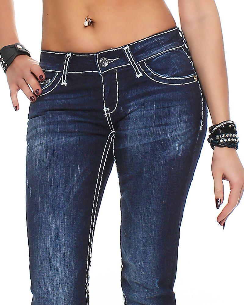 cipo baxx damen jeans cbw 231 damenhose jeanshose hose. Black Bedroom Furniture Sets. Home Design Ideas