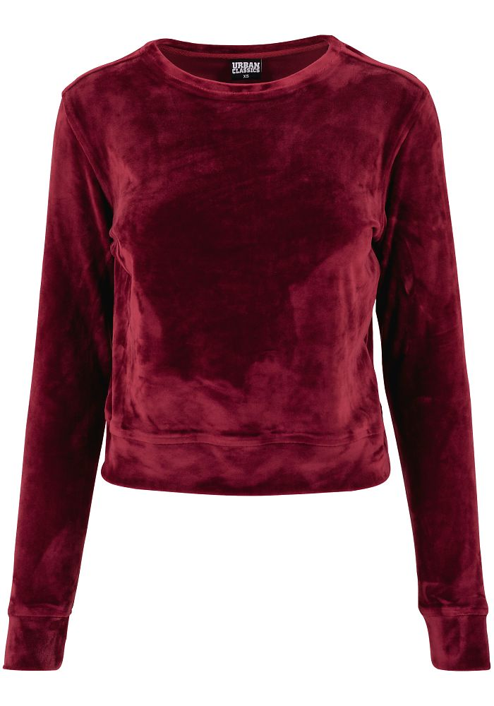 urban classics damen samt sweatshirt tb1352 pullover damenpullover velvet pulli ebay. Black Bedroom Furniture Sets. Home Design Ideas