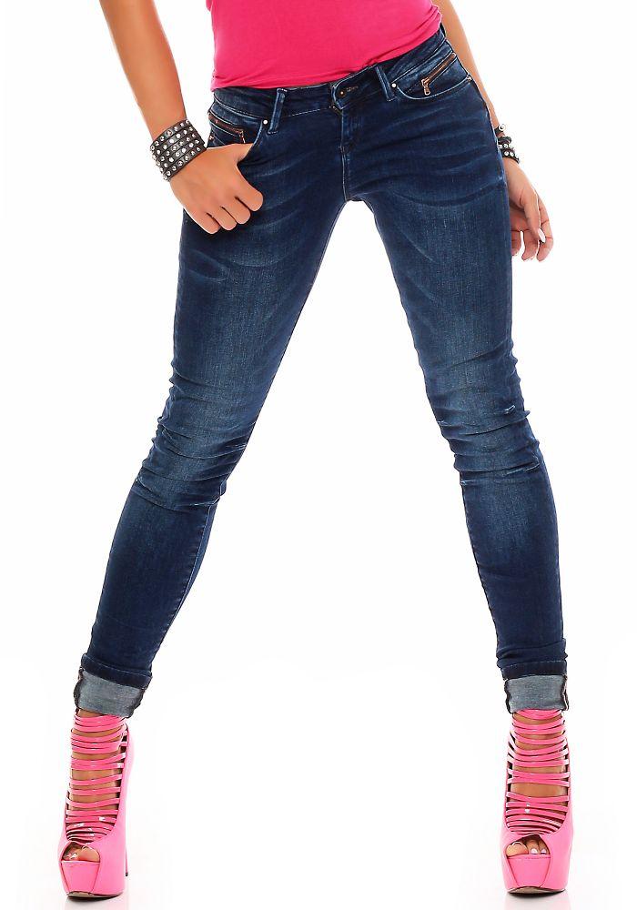 m o d damen jeans eva skinny atlantic blue 26 32 damenjeans damenhose jeanshose ebay. Black Bedroom Furniture Sets. Home Design Ideas