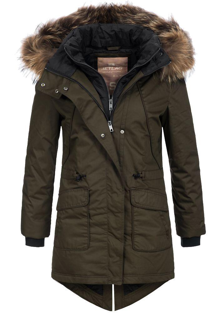 Jet-Lag-Damen-Winterparka-F-152-Jacke-Fellkapuze-Kurzmantel-Outdoor-Anorak-Coat