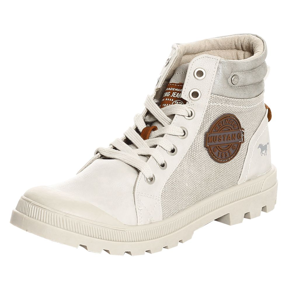mustang shoes damen schuhe high top sneaker 1160 506 ice 42 outdoor bootys boots ebay. Black Bedroom Furniture Sets. Home Design Ideas