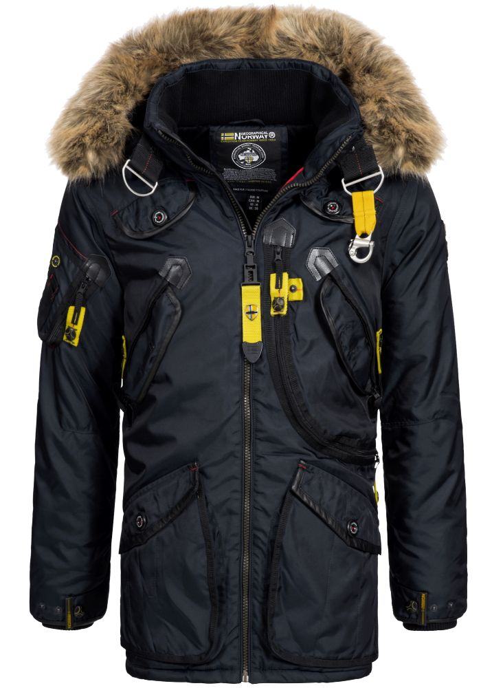 geographical norway herren winterparka arcos herrenjacke ski jacke parka kapuze ebay. Black Bedroom Furniture Sets. Home Design Ideas