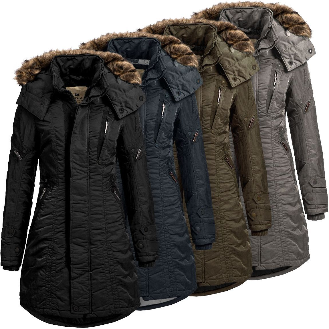jet lag damenparka sw61a damen winterparka mantel parka. Black Bedroom Furniture Sets. Home Design Ideas