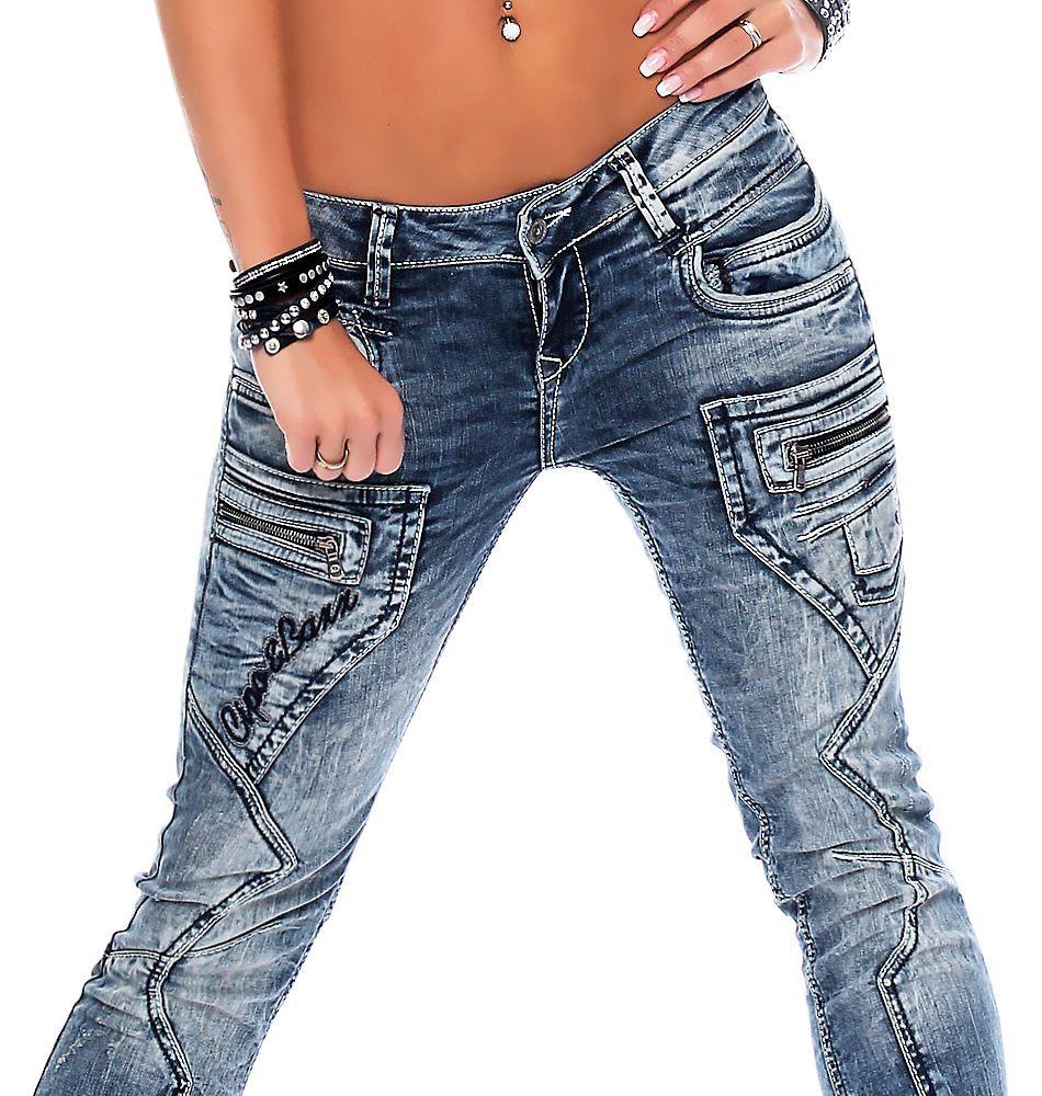cipo baxx damen jeans wd 200b damenhose jeanshose. Black Bedroom Furniture Sets. Home Design Ideas