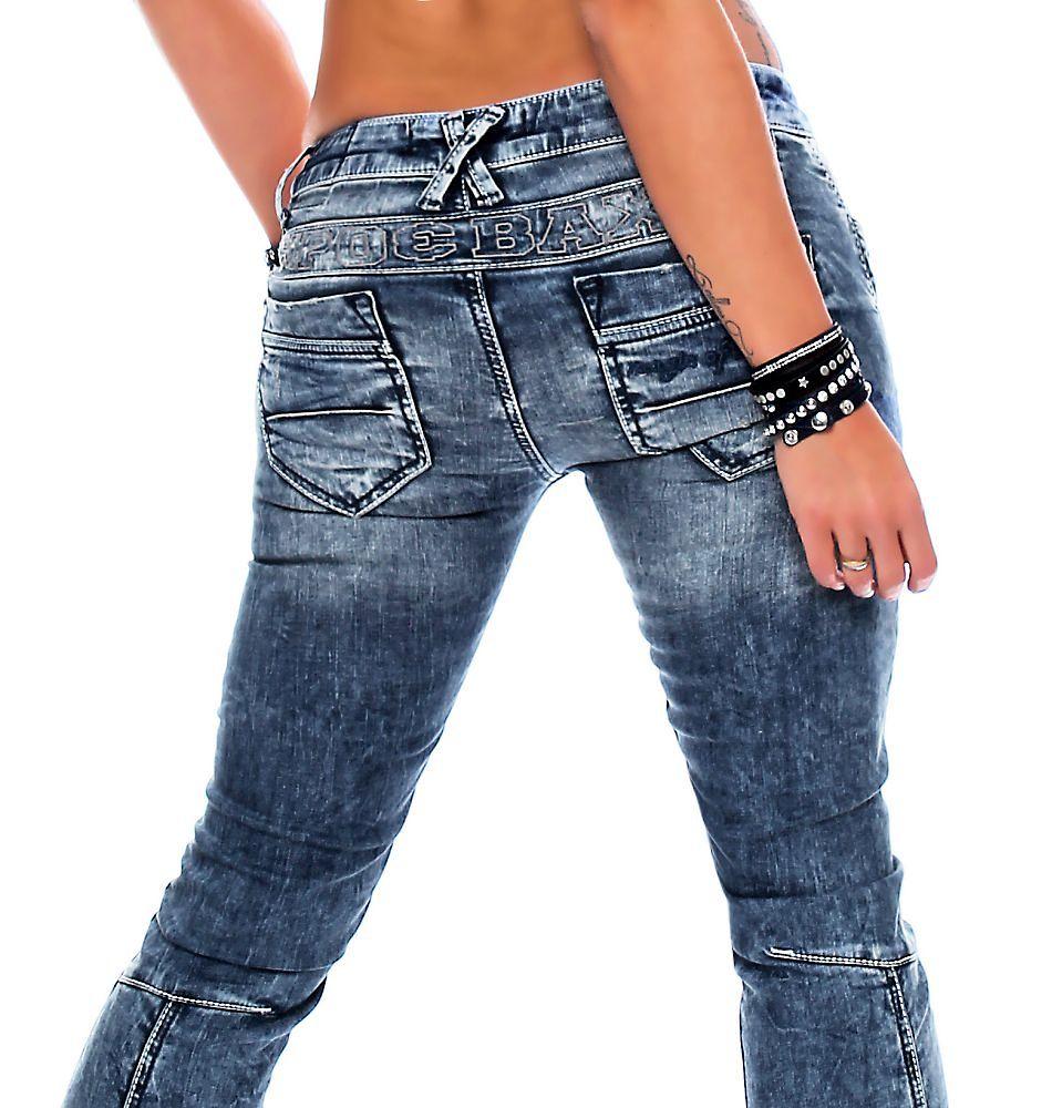 cipo baxx damen jeans wd 200b damenhose jeanshose skinnyjeans damenjeans denim ebay. Black Bedroom Furniture Sets. Home Design Ideas
