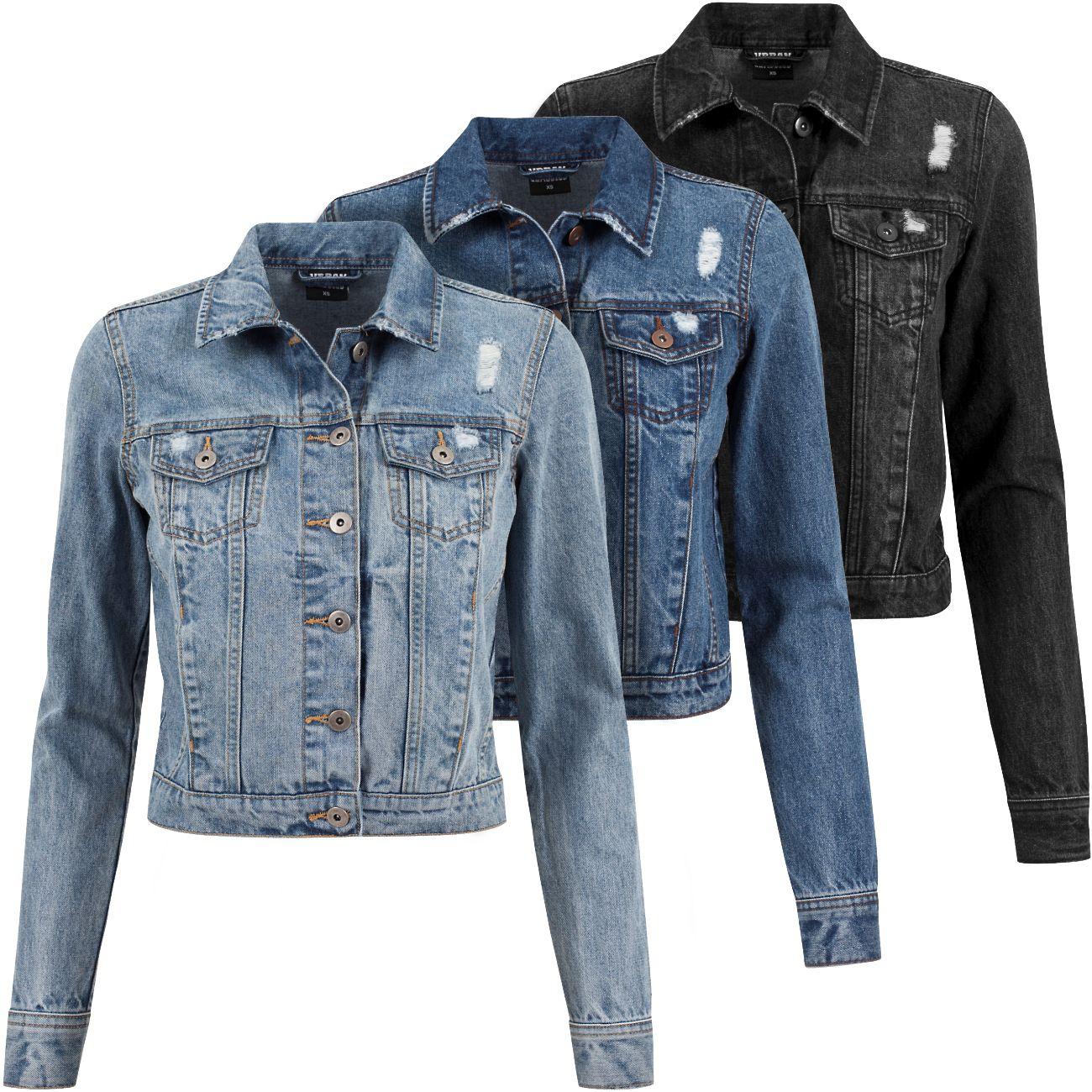 urban classics damen jeans jacke tb1542 jeansjacke sommer. Black Bedroom Furniture Sets. Home Design Ideas