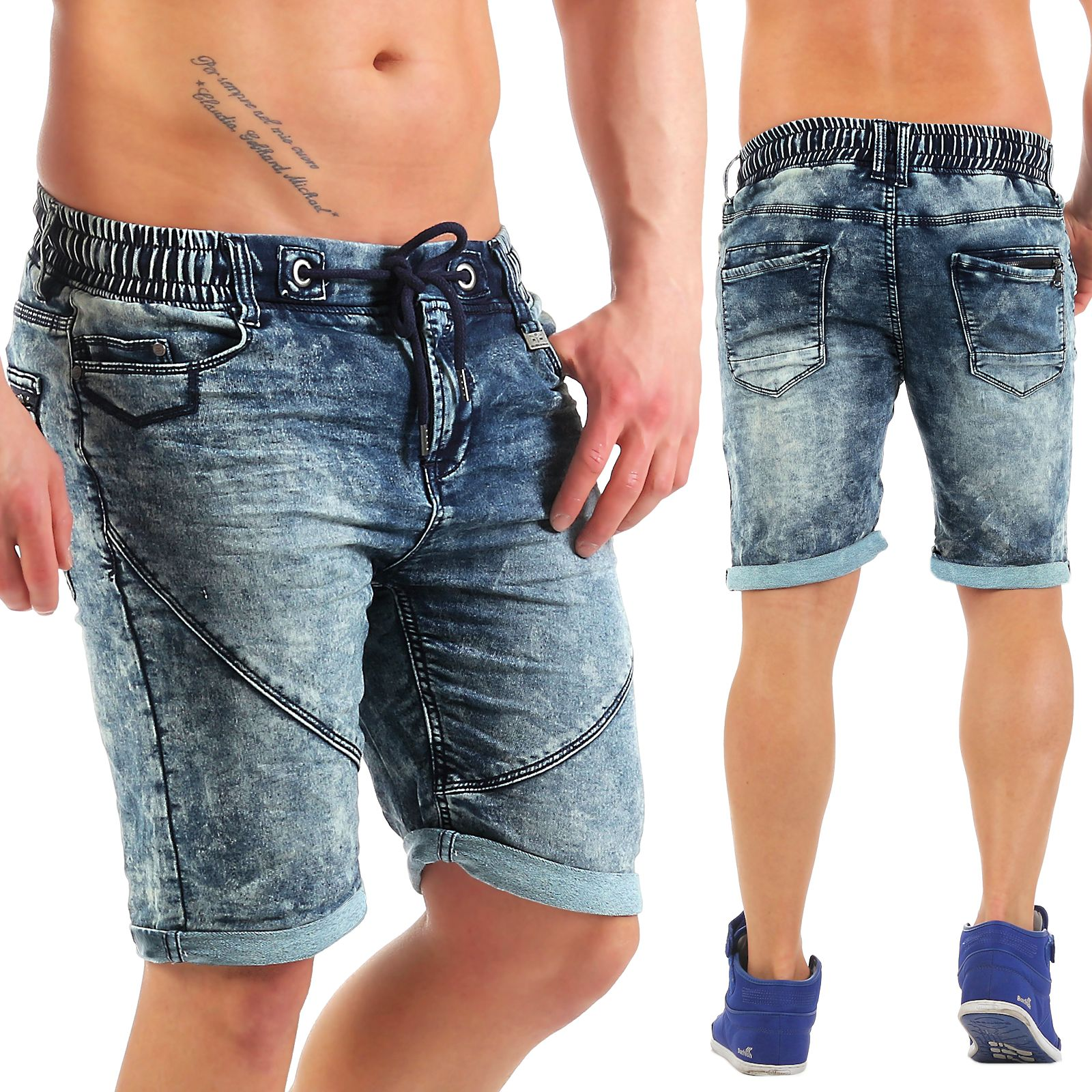 sublevel herren jogg jeans shorts zz1 kurze hose bermuda sweat short jogginghose ebay. Black Bedroom Furniture Sets. Home Design Ideas