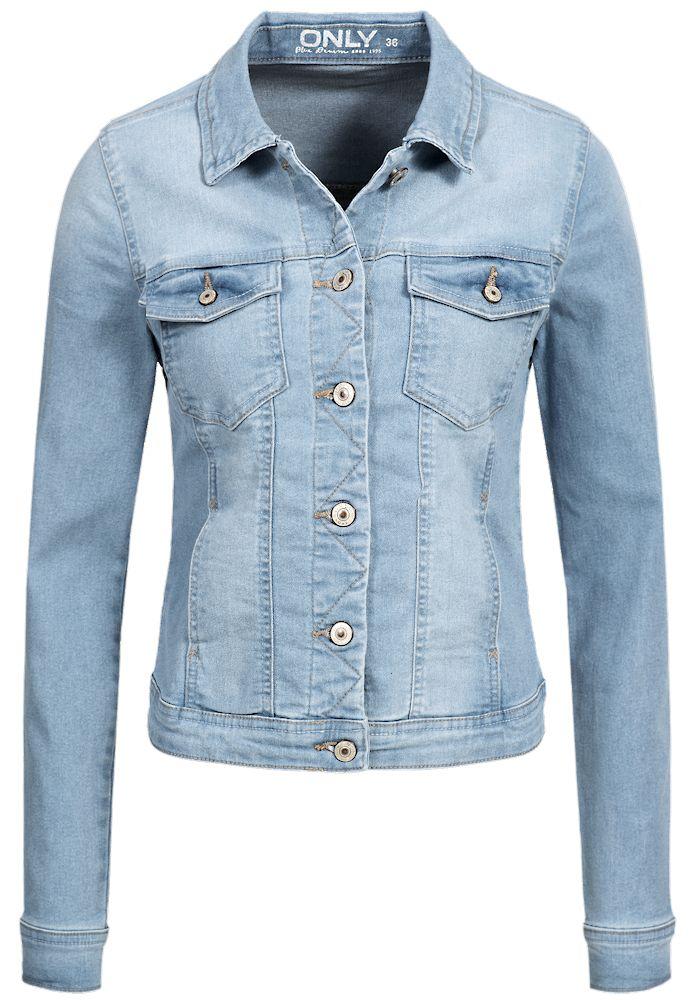Only-Damen-Jeans-Jacke-New-Westa-Kurz-Fruehling-Ubergangs-Jacket-denim-Basic