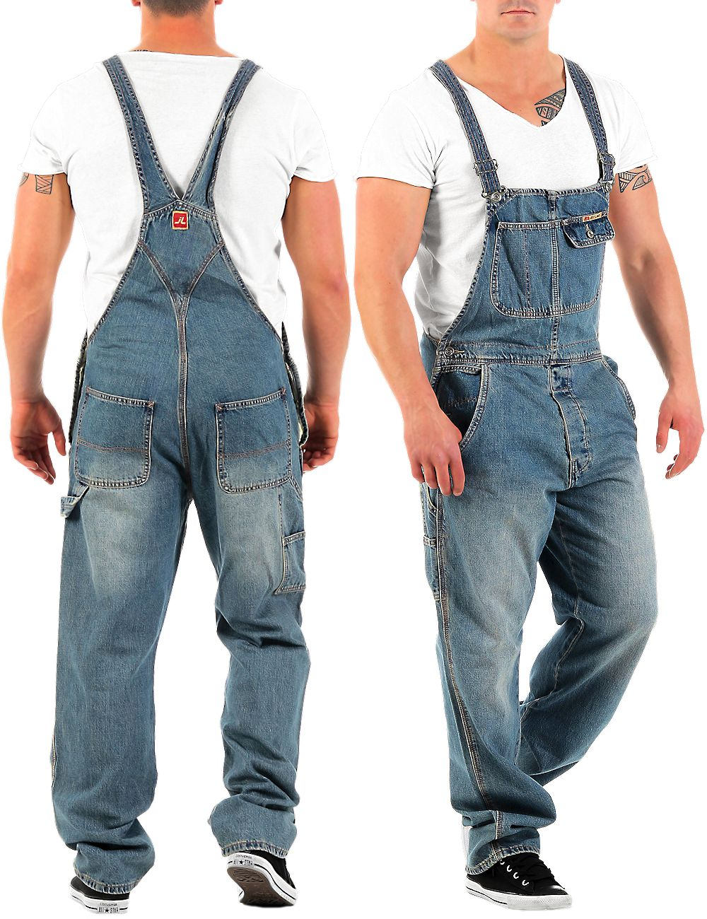 jet lag herren latz jeans overall denim long herrenhose latzhose latzjeans hose ebay. Black Bedroom Furniture Sets. Home Design Ideas