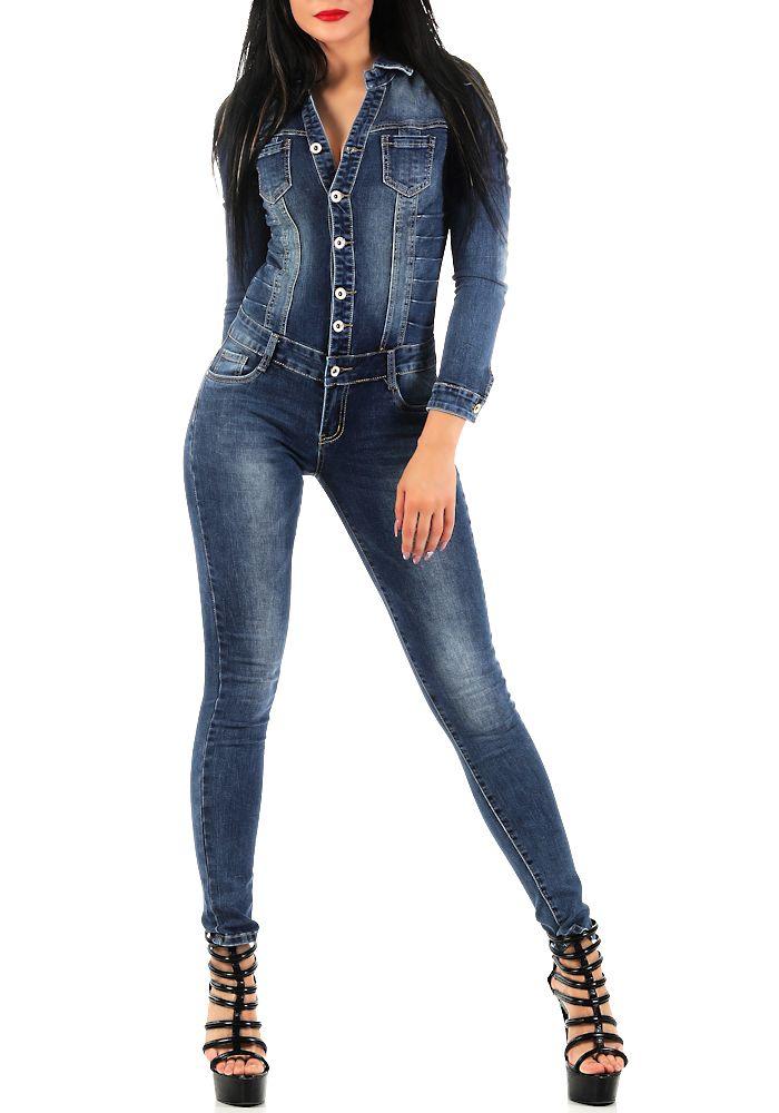 damen langarm jeans overall sj128 damenjeans anzug. Black Bedroom Furniture Sets. Home Design Ideas