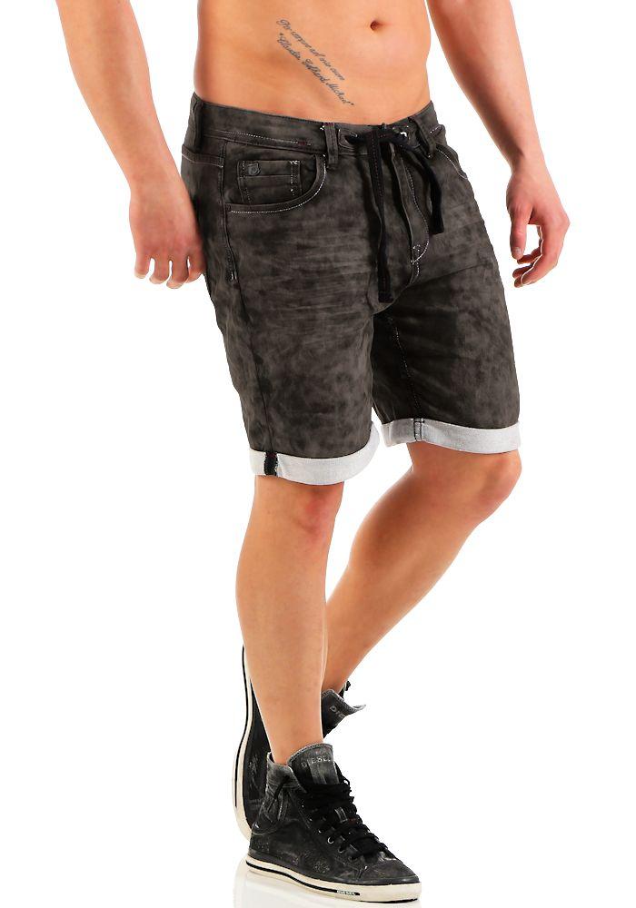 sublevel herren jogg jeans shorts lsl 134 grey w31 kurze hose bermuda short ebay. Black Bedroom Furniture Sets. Home Design Ideas