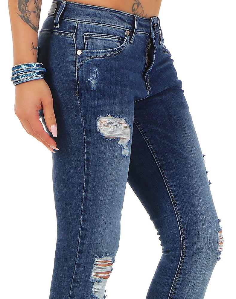 c80b76576137 Details zu Only Damen Jeans Kendell Damenhose Slim Fit Jeanshose Damenjeans  Destroyed Hose