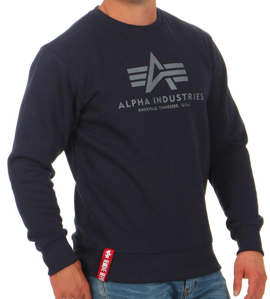 alpha industries herren sweatshirt basic 178302. Black Bedroom Furniture Sets. Home Design Ideas