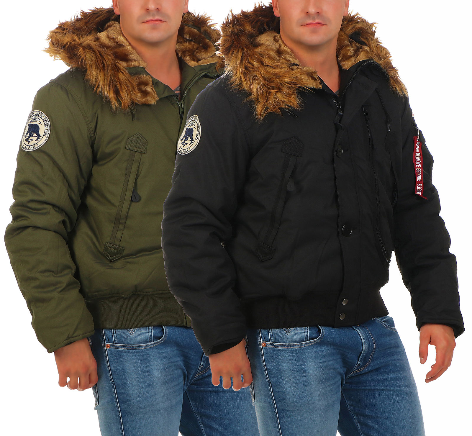 alpha industries herren winterjacke polar jacket sv 133141. Black Bedroom Furniture Sets. Home Design Ideas
