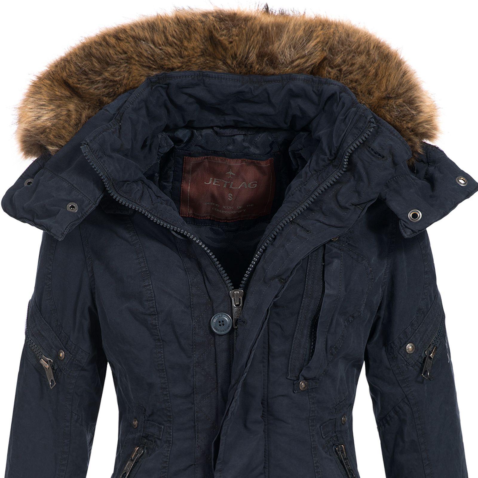 Jet Lag Damen Winterjacke Parka Mantel Damenjacke Jacke ...