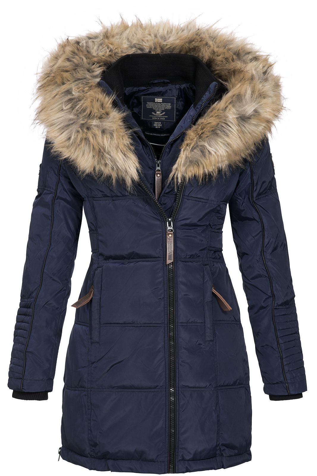 geographical norway damen winterparka belissima blau l mantel jacke ski anorak 3543114799691 ebay. Black Bedroom Furniture Sets. Home Design Ideas