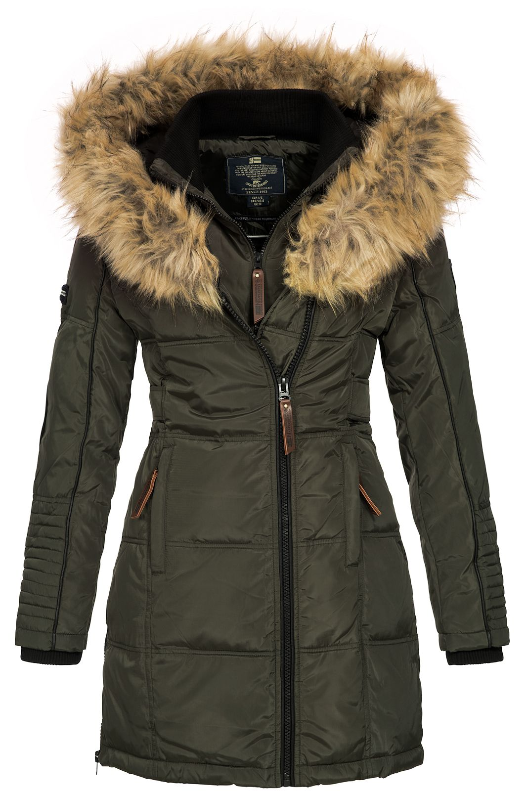 buy online d1152 3af49 Details zu Geographical Norway Damen Winterparka Belissima kurz Mantel  Jacke Ski Anorak