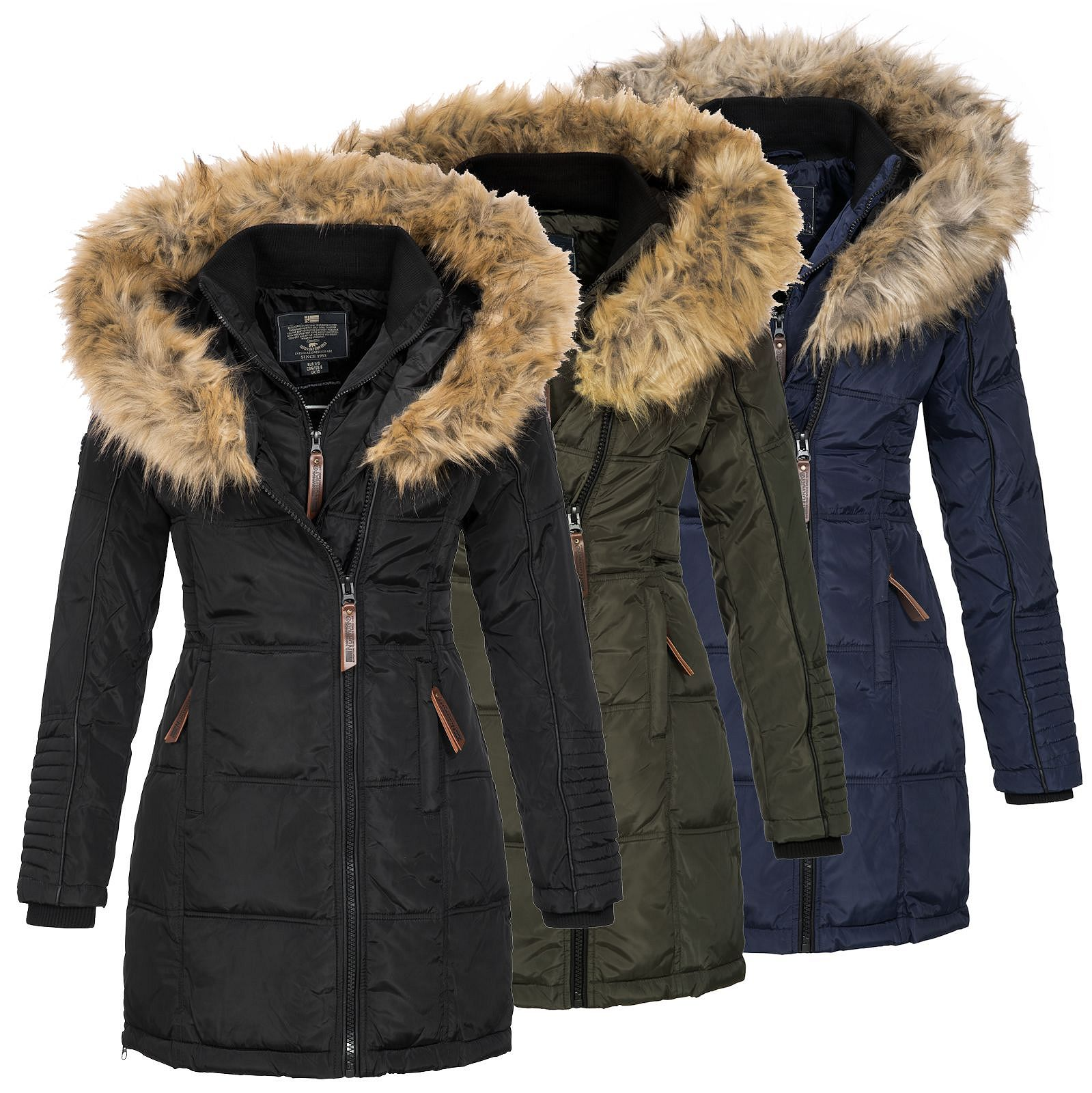 geographical norway damen winterparka belissima kurz. Black Bedroom Furniture Sets. Home Design Ideas