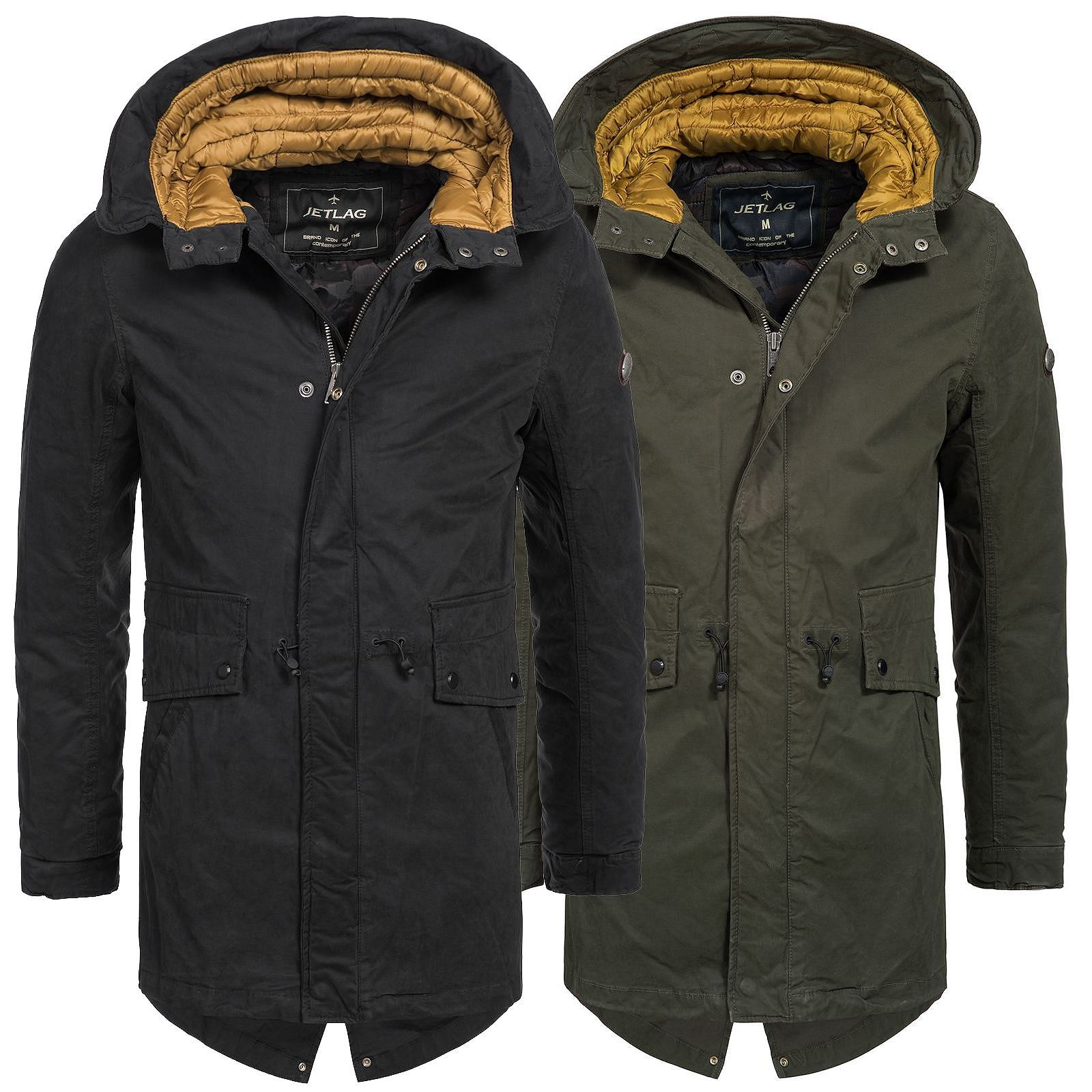 jet lag herren winterparka 17 223 jacke anorak bergangs kurzmantel parker coat ebay. Black Bedroom Furniture Sets. Home Design Ideas