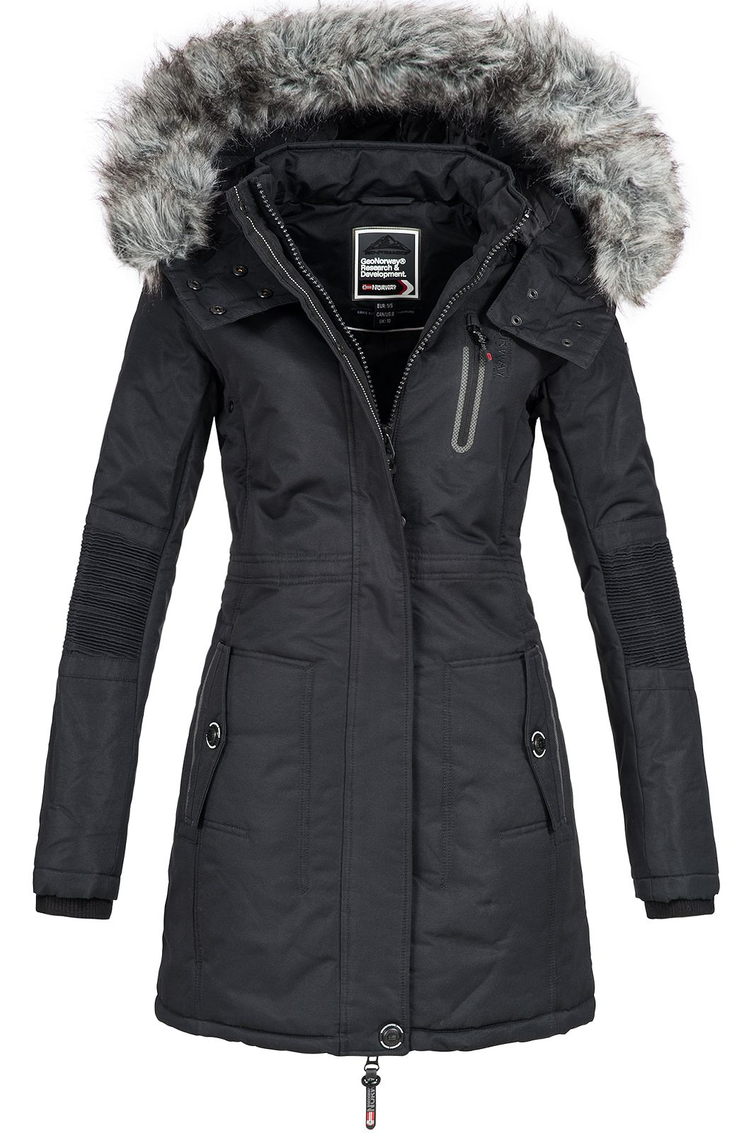 geographical norway damen winterparka coracle jacke anorak. Black Bedroom Furniture Sets. Home Design Ideas