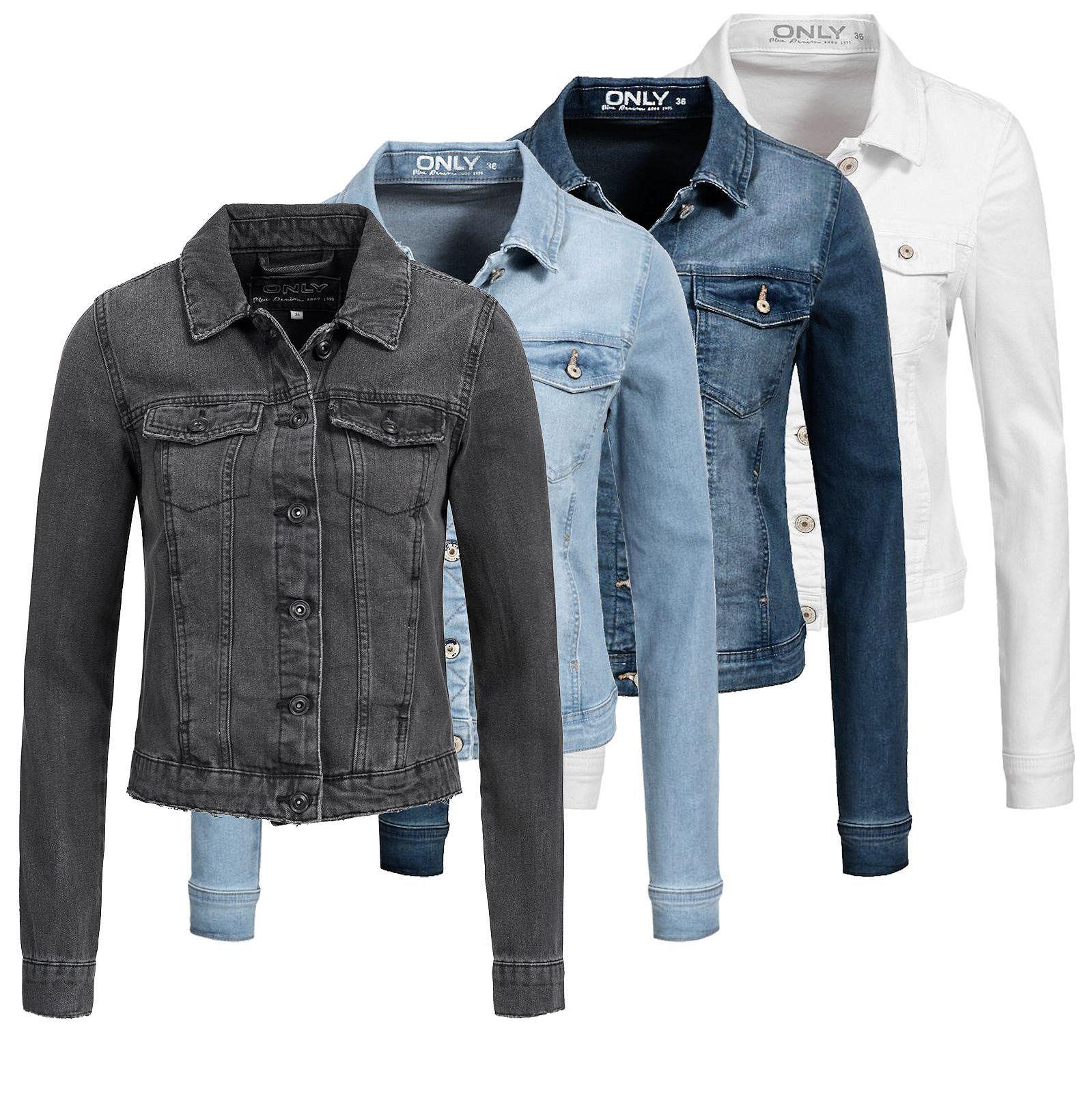 Einkaufen Spitzenstil toller Wert Details zu Only Damen Jeans Jacke New Westa Kurz Frühling Übergangs Jacket  denim Basic