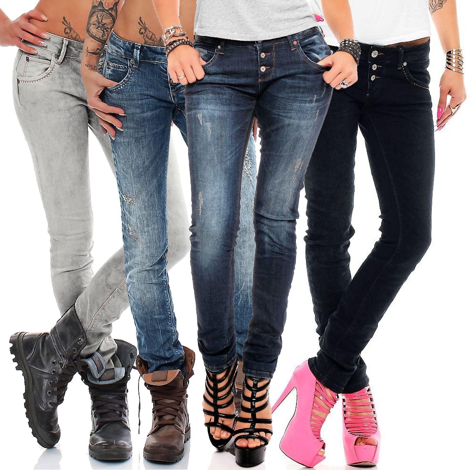 6aa6871cf46d Das Bild wird geladen M-O-D-Damen-Jeans-Ulla-skinny-slim-fit-Jeanshose-