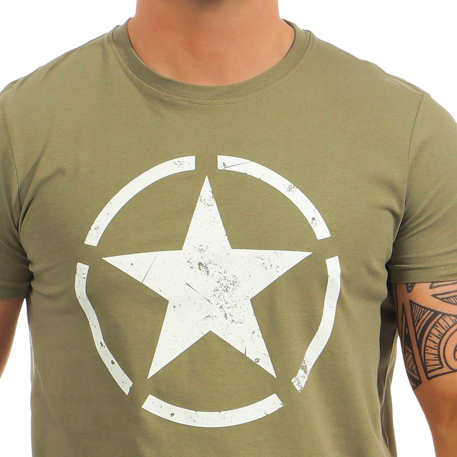 3feaad48b661 Alpha Industries Herren T-Shirt Star 121513 Männer kurzarm Tee Basic ...
