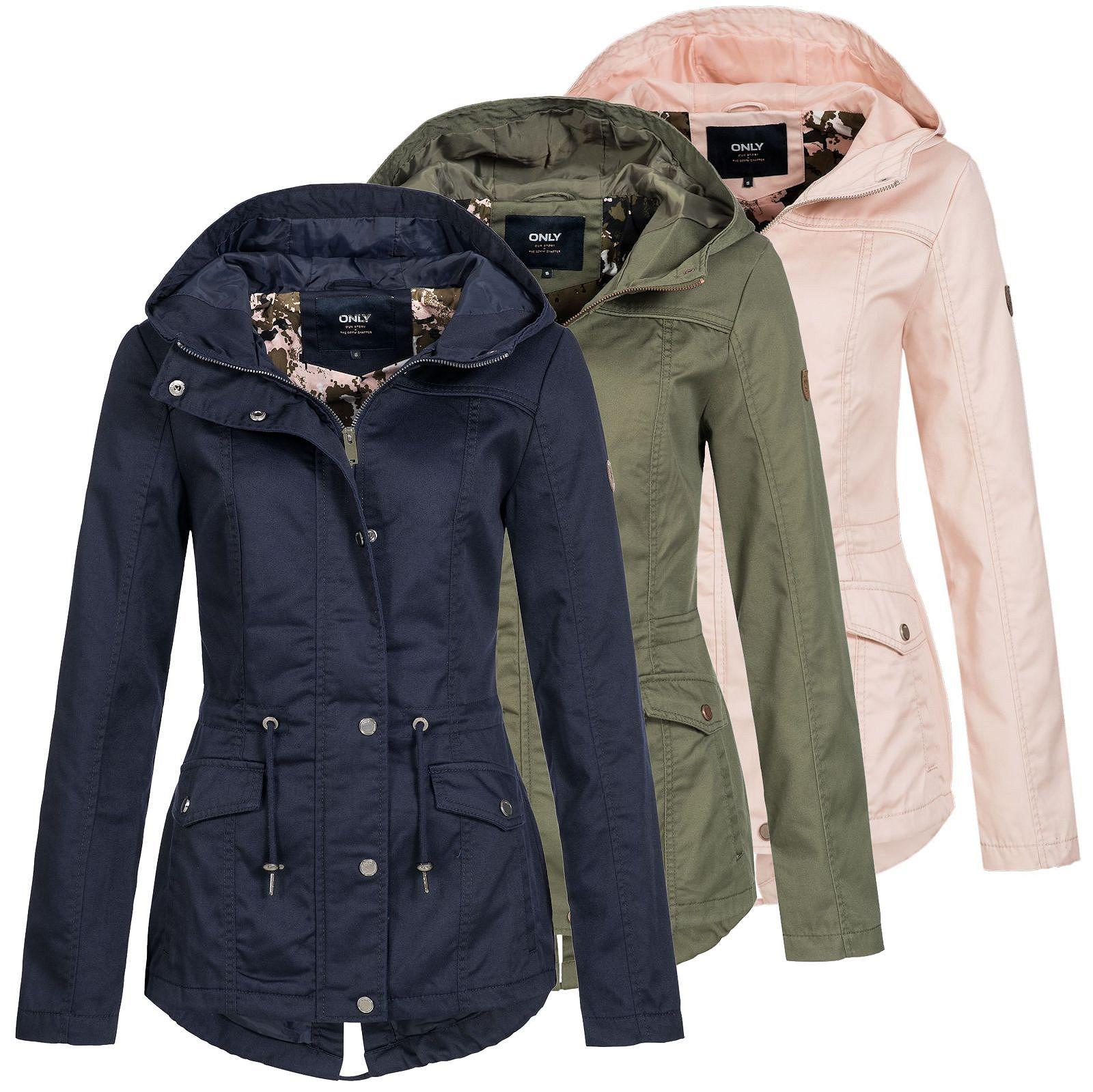 94c4af79697c Only Damen Parka Kate Übergangsjacke Frauen kurz Mantel Jacket ...