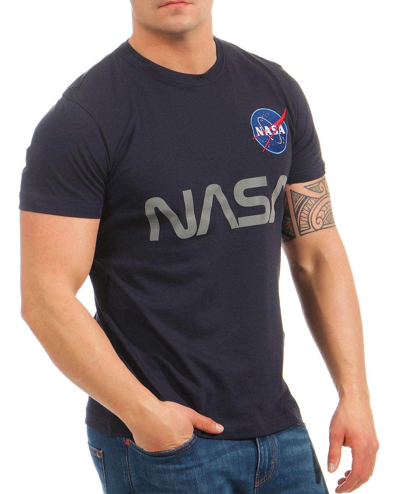 ab7457aac267b Alpha Industries Herren T-Shirt NASA Reflective 178501 Männer ...