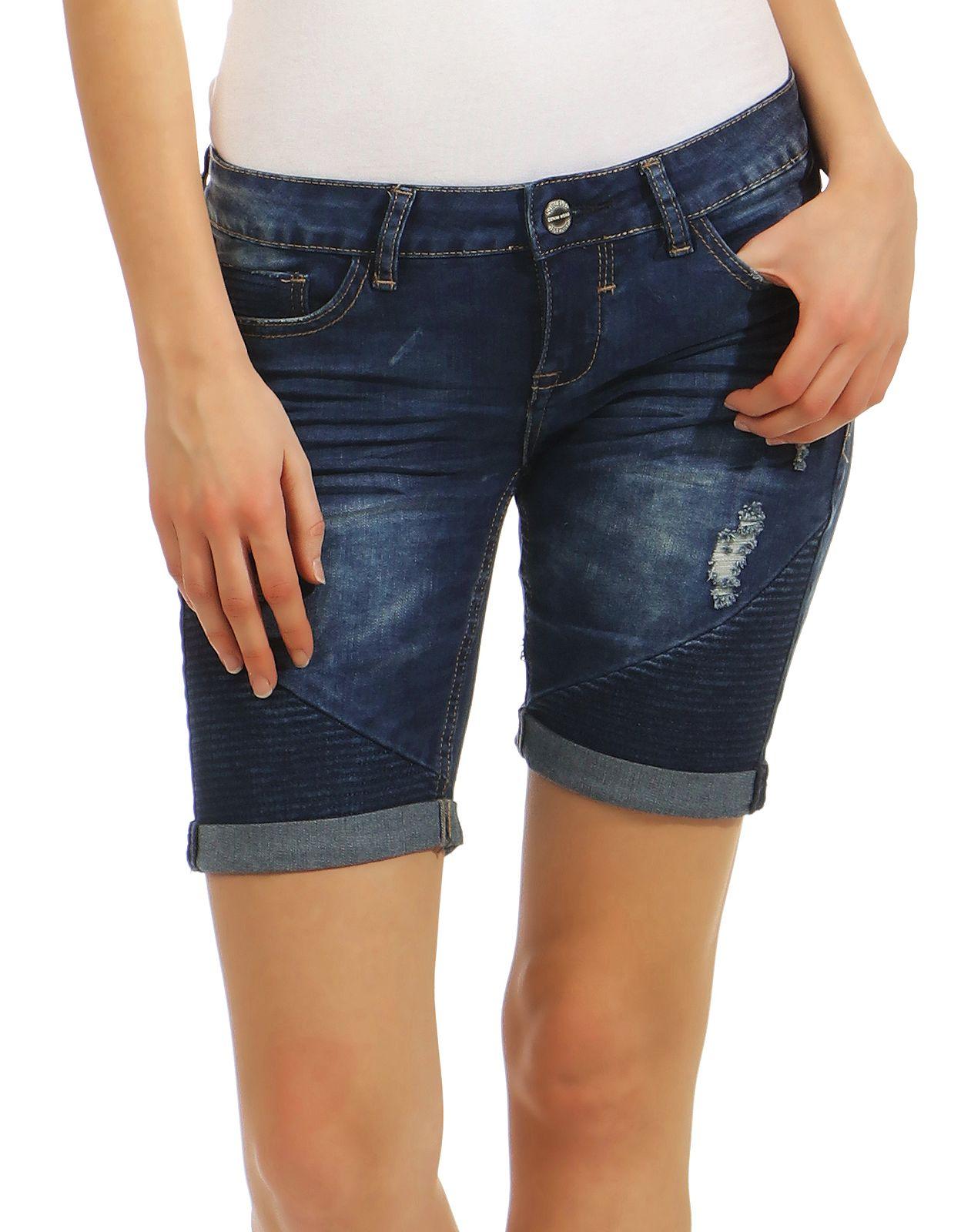 Sublevel Damen Jogg Jeans Shorts LSL-321 Bermuda kurze Denim Hose ... 3f5560bae1