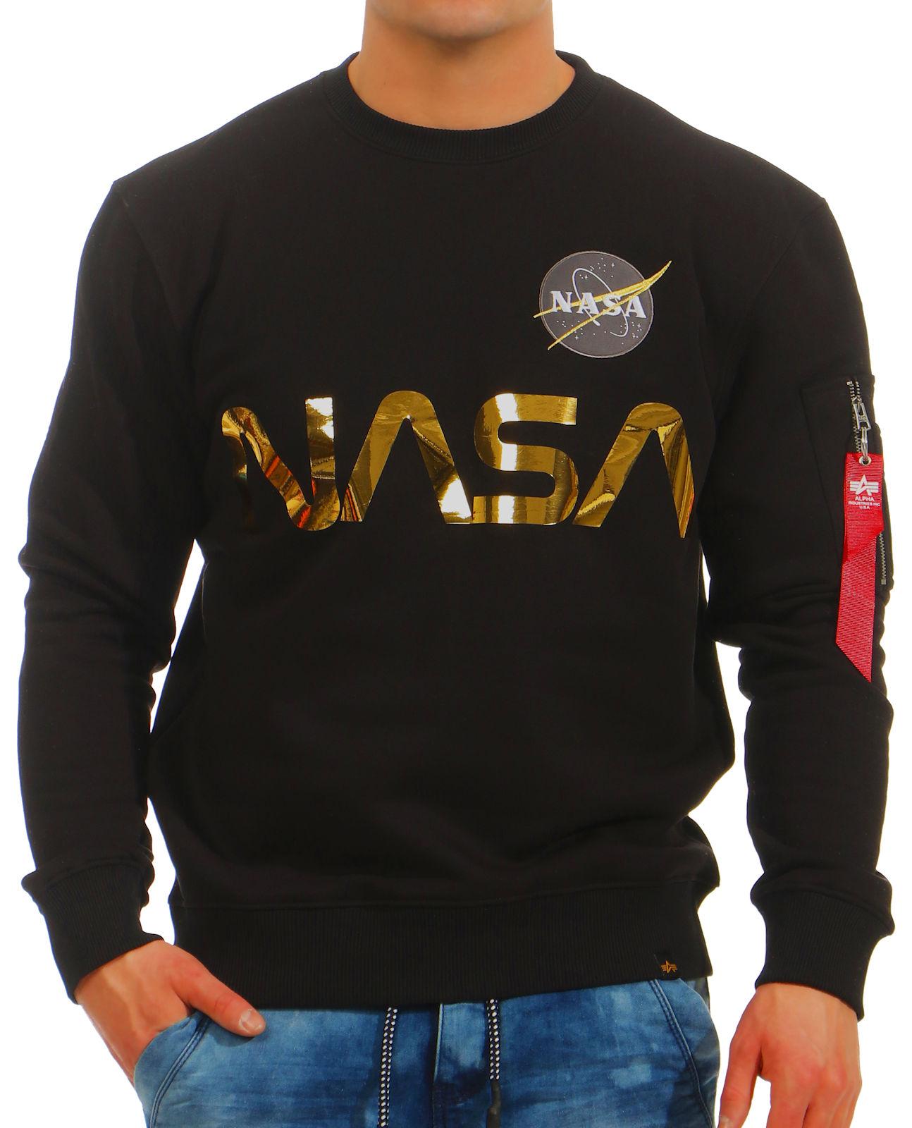 deebeb40c7cf Alpha Industries Herren Sweatshirt Nasa 178309 Männer Pullover ...