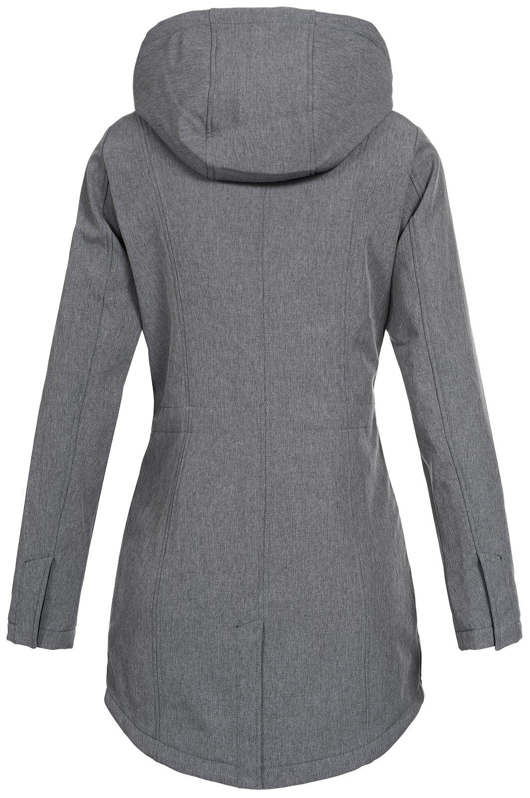 Top Fuel Fashion Damen Softshelljacke Kurzmantel Ivana