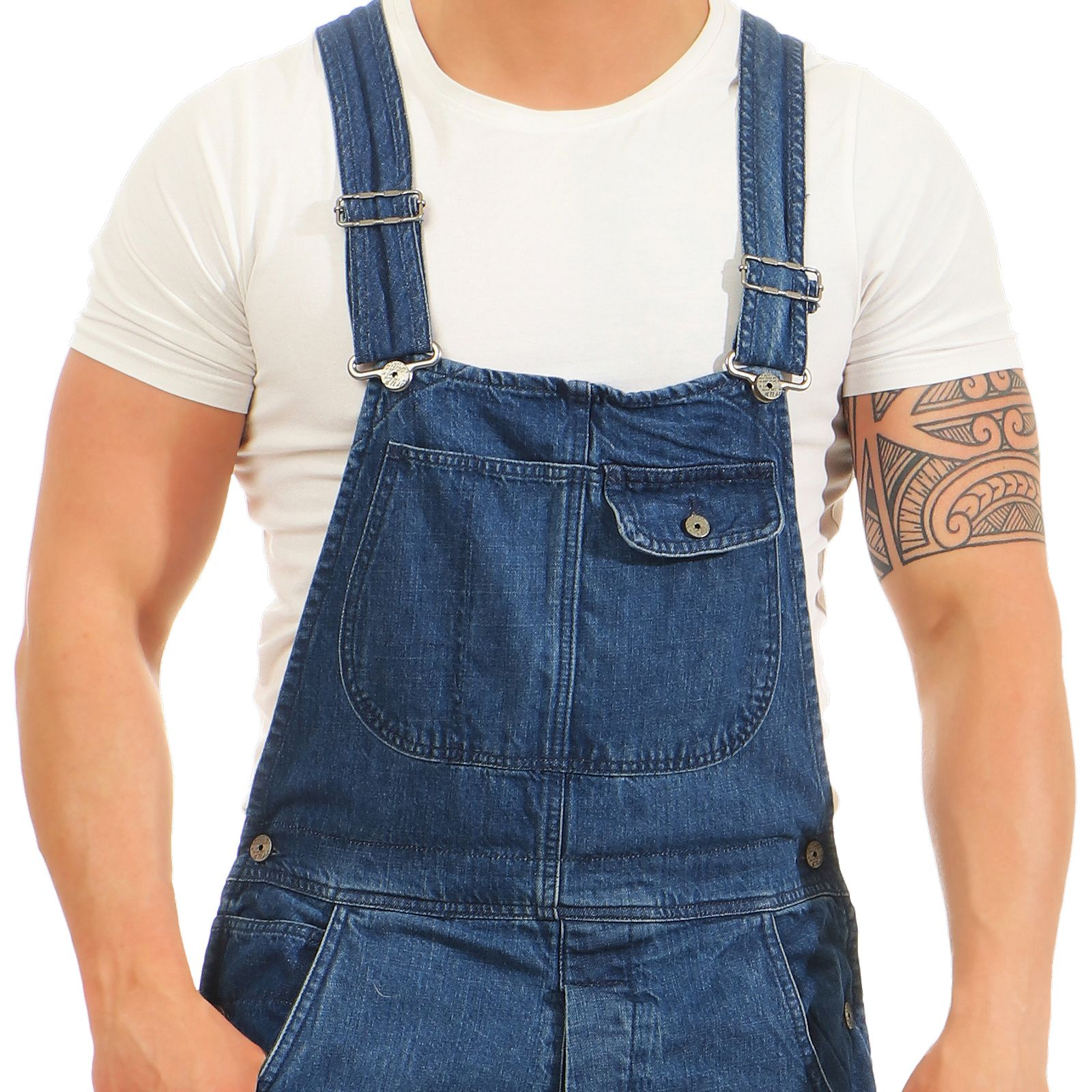Jet LAG Men's Jeans Jumpsuit A Shorts Dungarees Onesie Denim Pants Bermuda   eBay