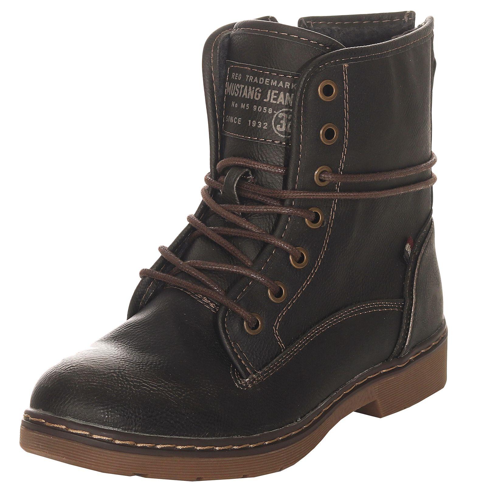 1f03d125017e44 Mustang Damen Winterschuhe Stiefel Boots Stiefeletten Damenschuhe ...