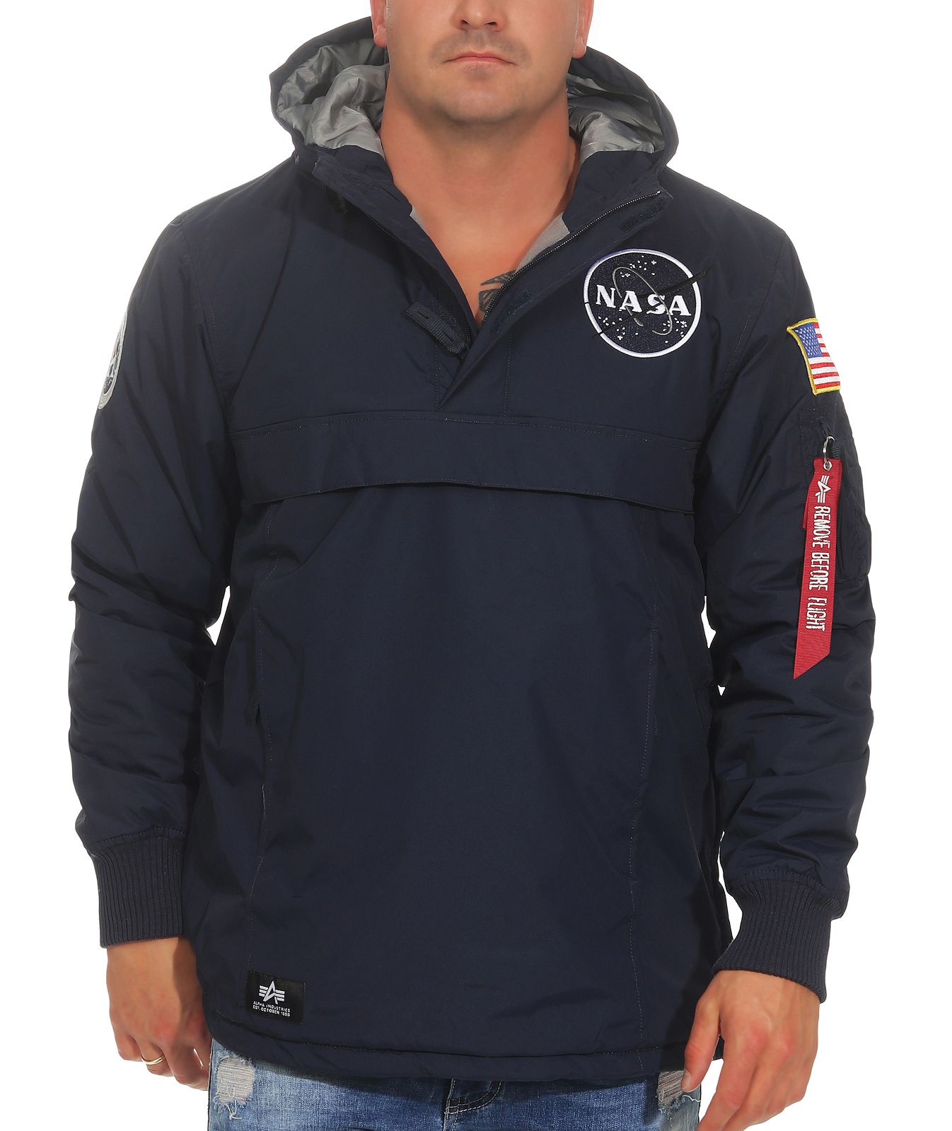 Details zu Alpha Industries Herren Jacke Windbreaker Übergangsjacke Windjacke NASA 188133