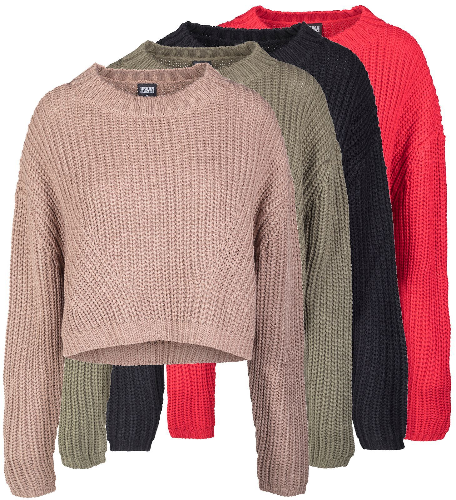 purchase cheap 46f52 57a2d Details zu Damen Pullover Strickpullover Damenpullover Oversize Urban  Classics TB2359