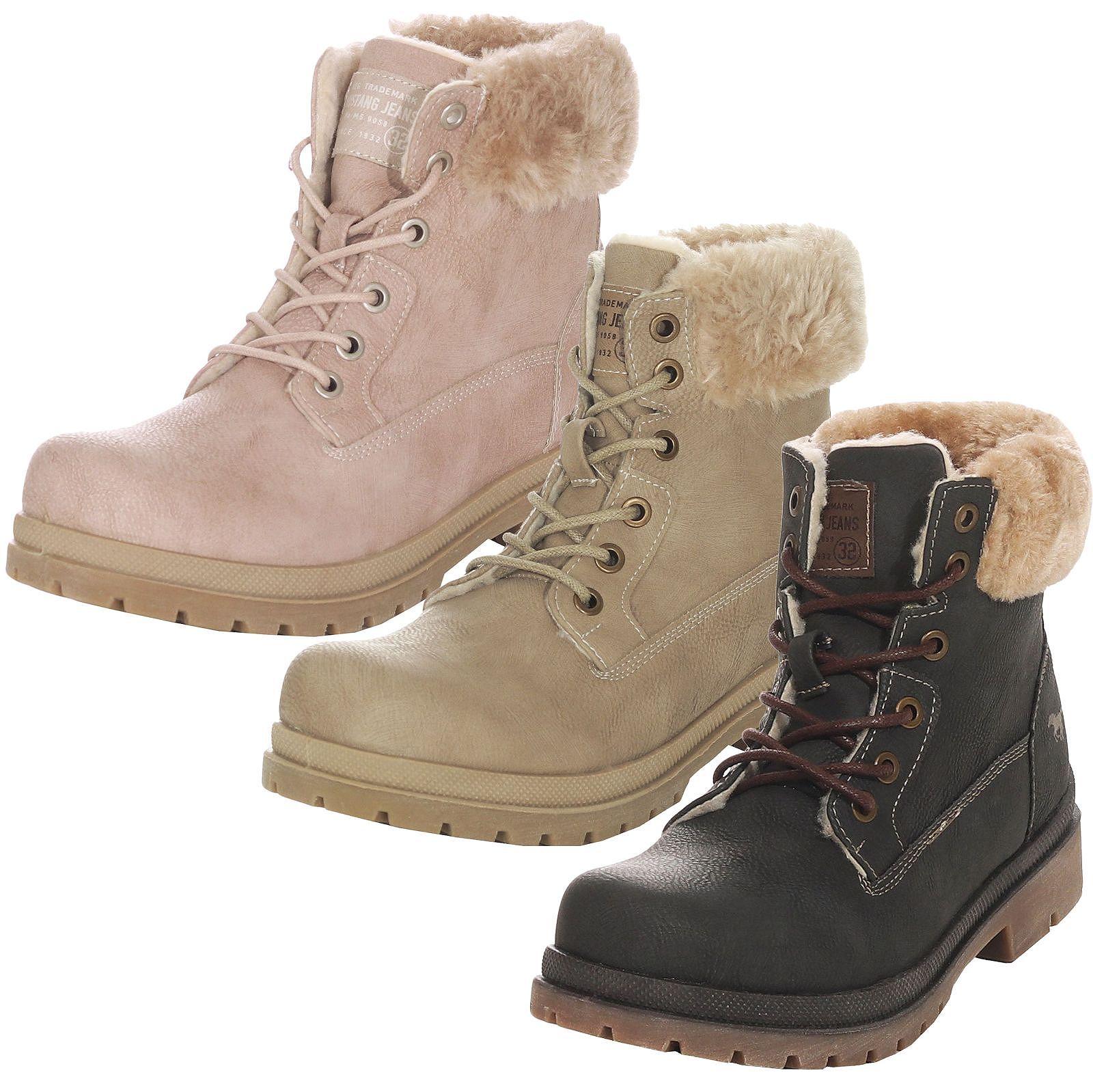 sports shoes 35c1a 16769 Details zu Mustang Damen Winterschuhe Stiefel Boots Winterstiefel  Damenschuhe 1207-607